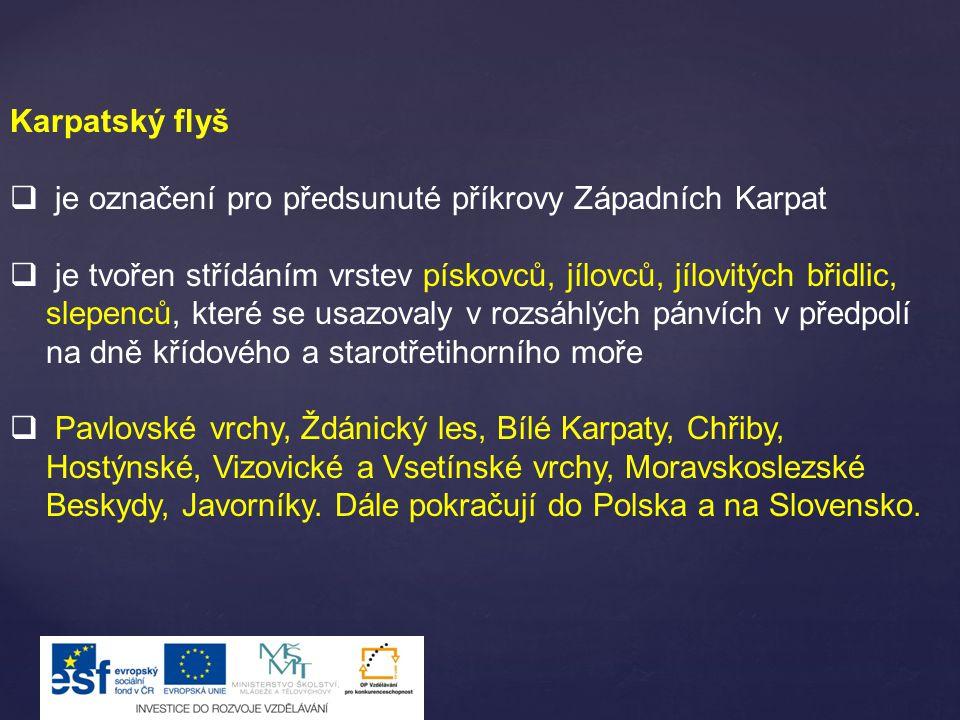 Karpatský flyš je označení pro předsunuté příkrovy Západních Karpat.