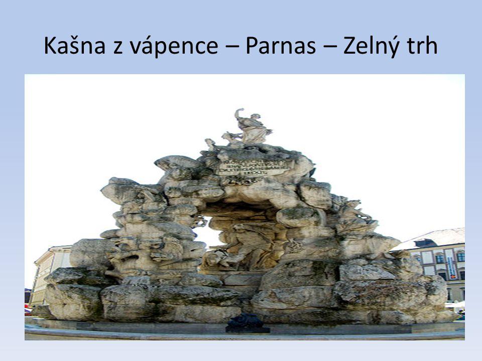 Kašna z vápence – Parnas – Zelný trh
