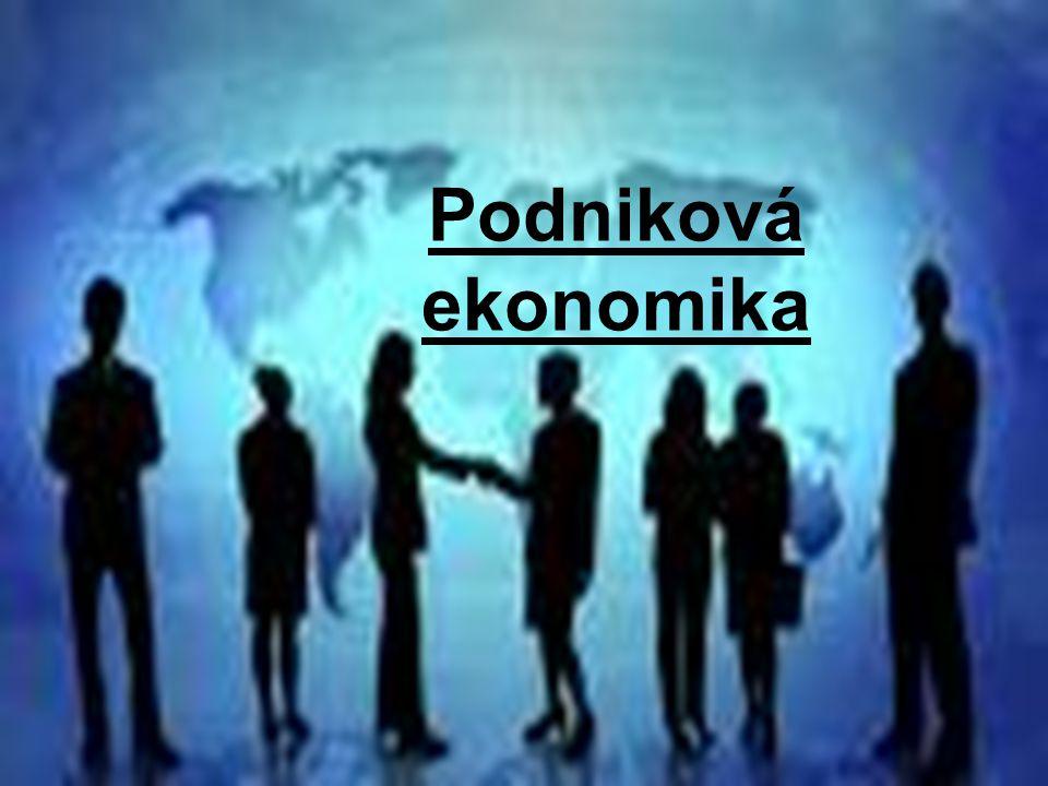 Podniková ekonomika 1