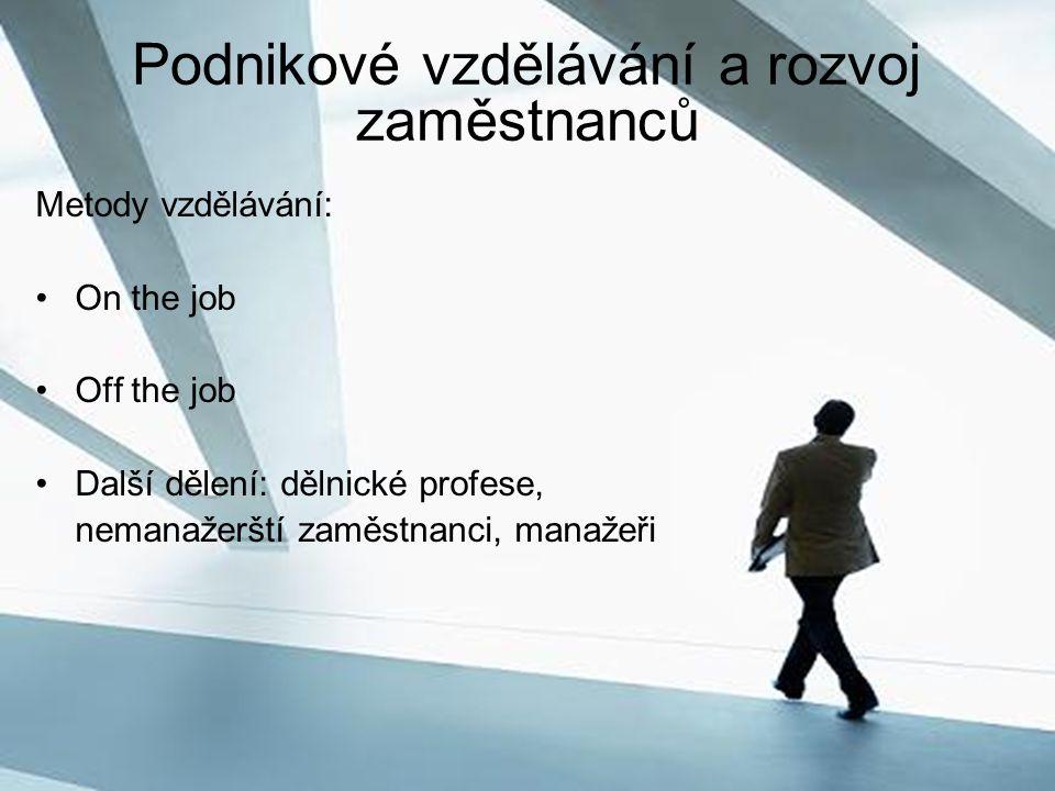 Podnikové vzdělávání a rozvoj zaměstnanců