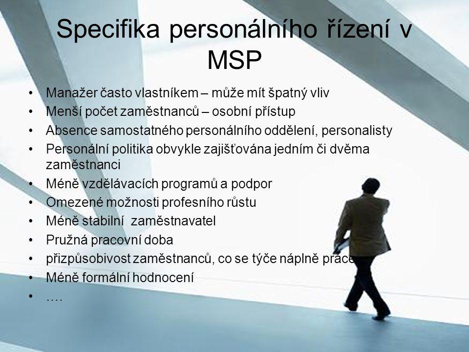 Specifika personálního řízení v MSP