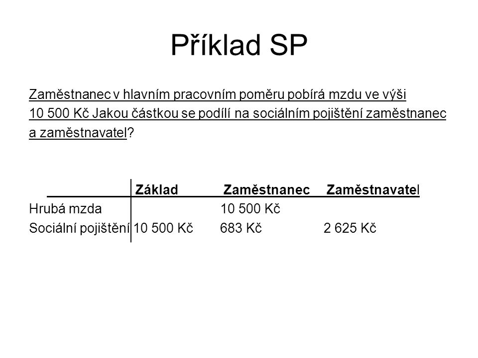 Příklad SP