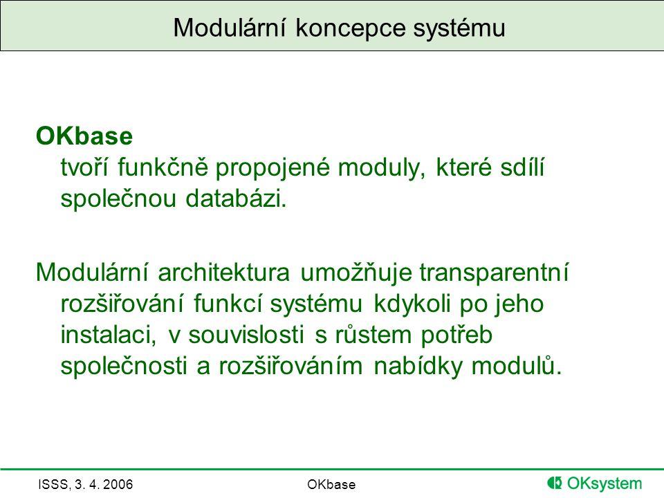 Modulární koncepce systému