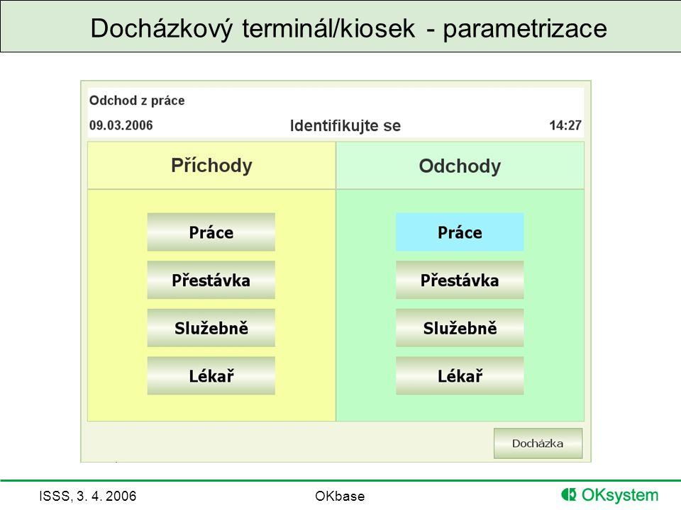 Docházkový terminál/kiosek - parametrizace