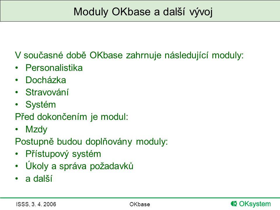 Moduly OKbase a další vývoj