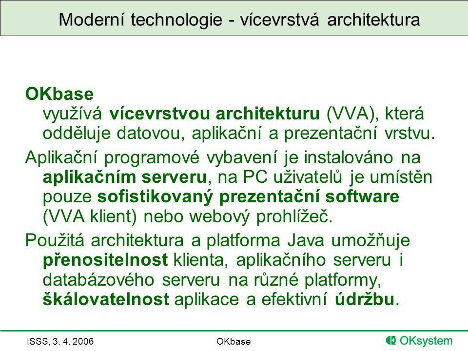 Moderní technologie - vícevrstvá architektura
