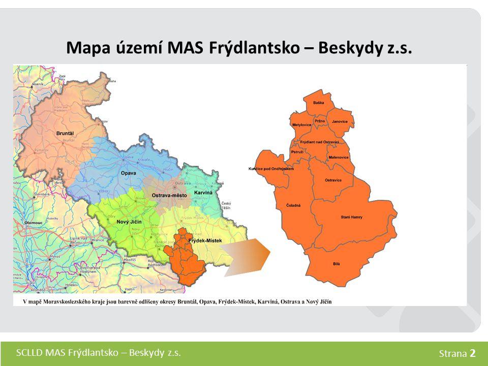 Mapa území MAS Frýdlantsko – Beskydy z.s.
