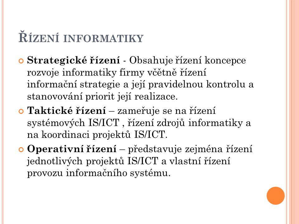 Řízení informatiky