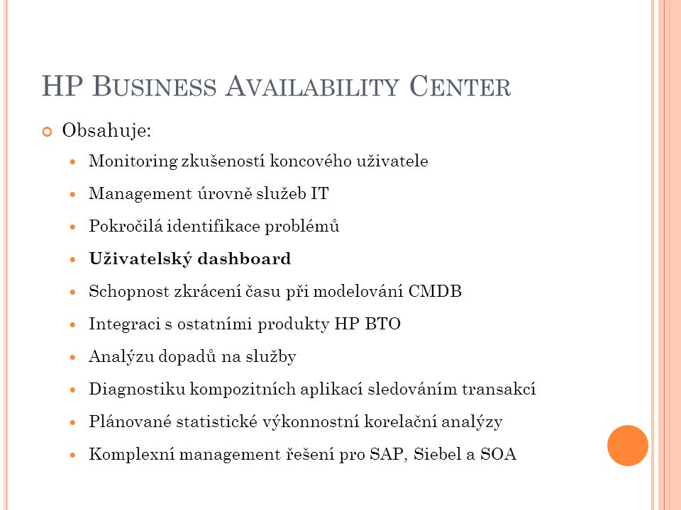 HP Business Availability Center