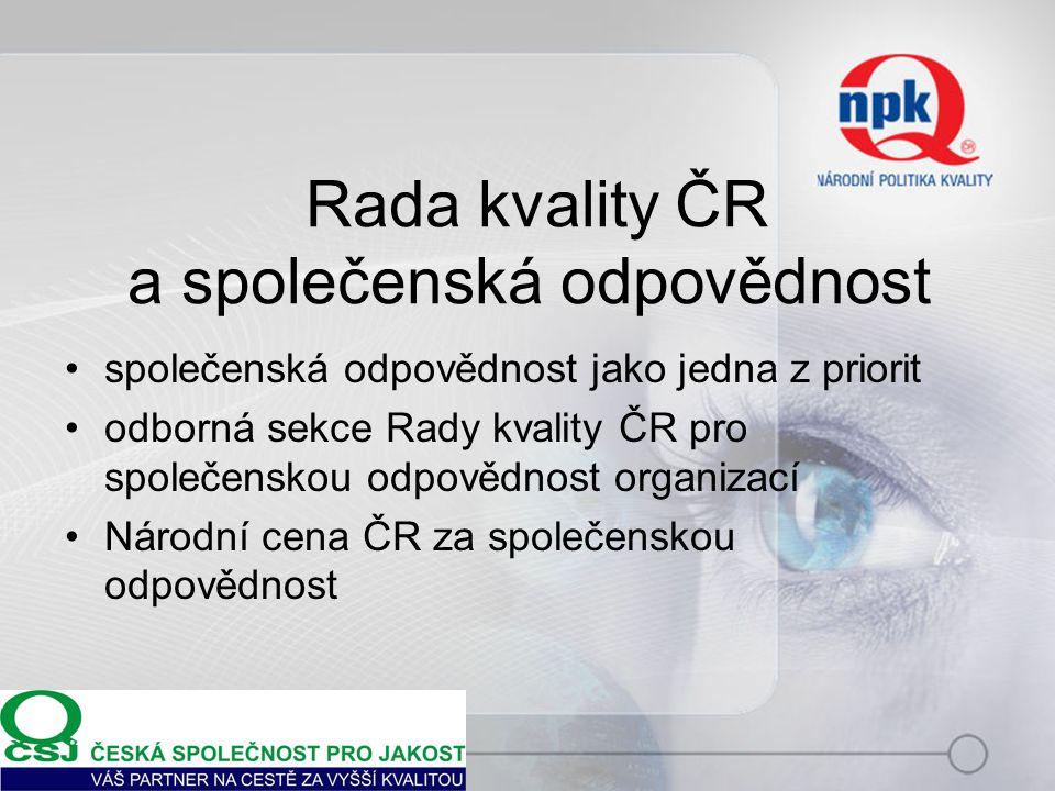 Rada kvality ČR a společenská odpovědnost