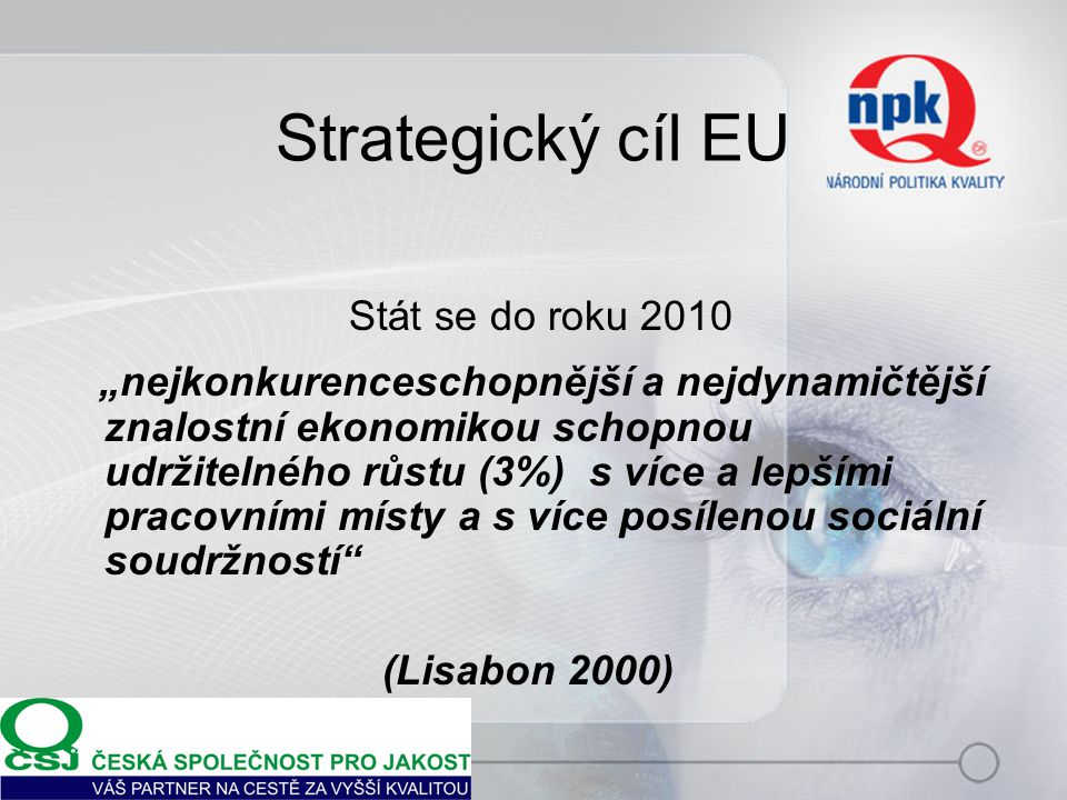 Stát se do roku 2010 Strategický cíl EU