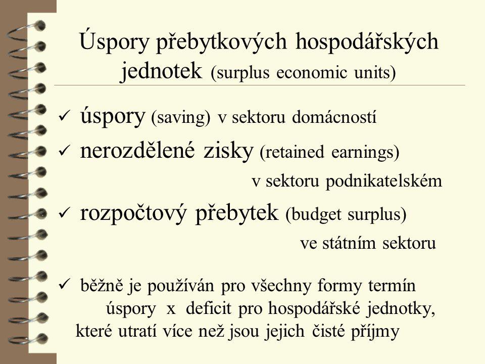 Úspory přebytkových hospodářských jednotek (surplus economic units)