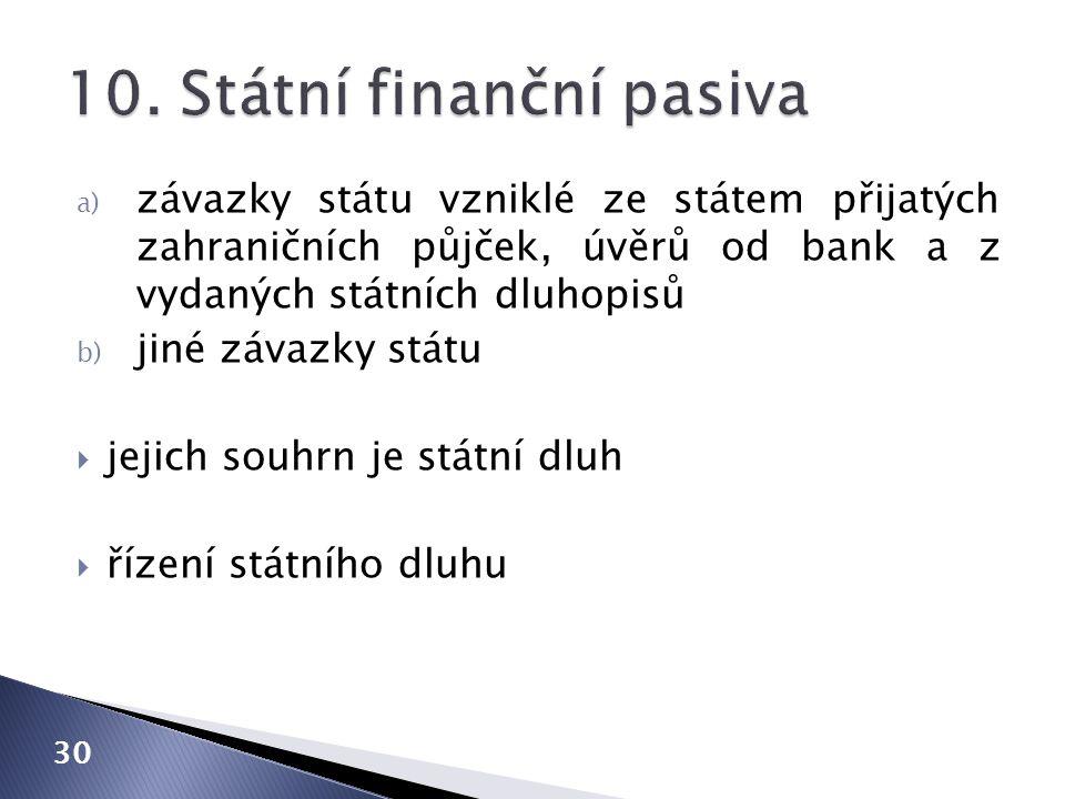 10. Státní finanční pasiva