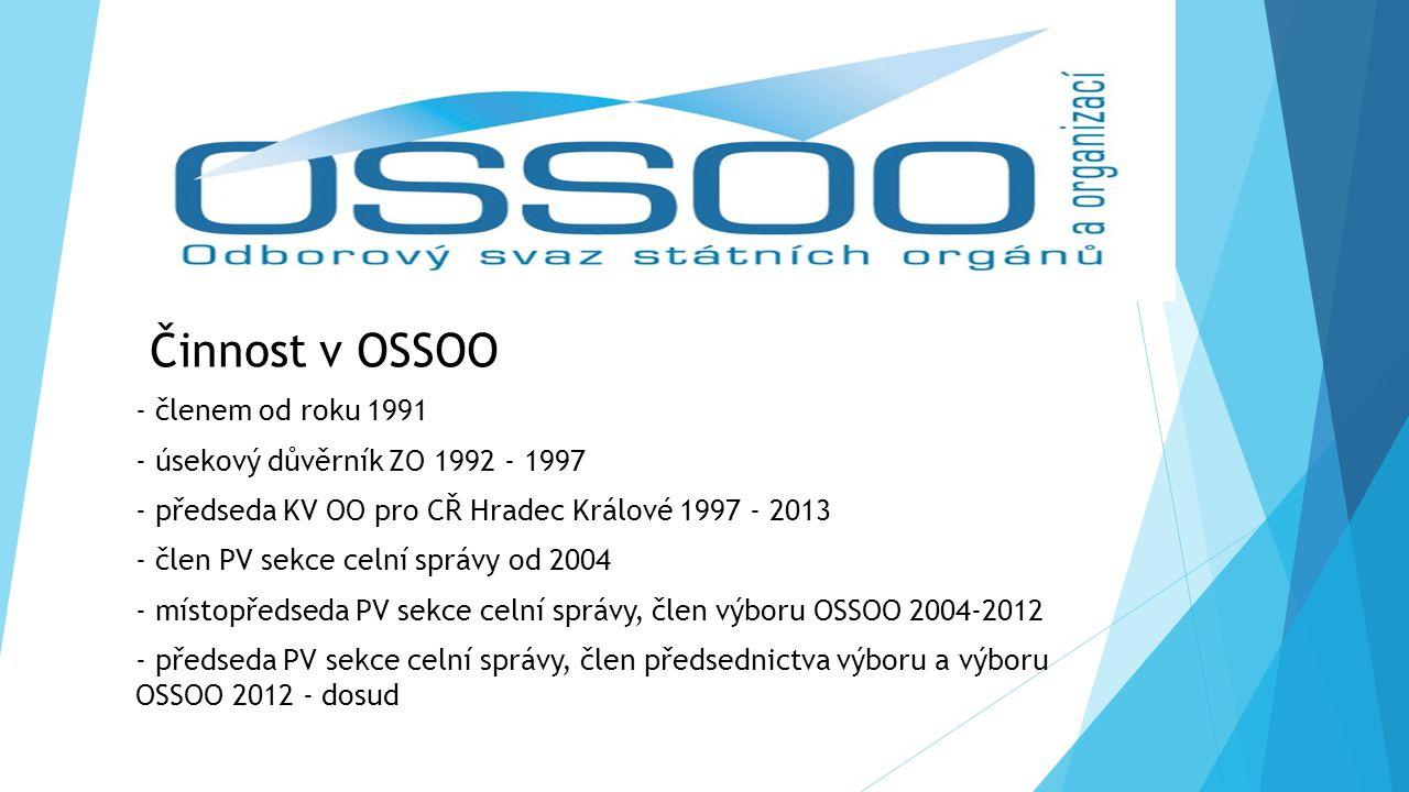 Činnost v OSSOO - členem od roku 1991
