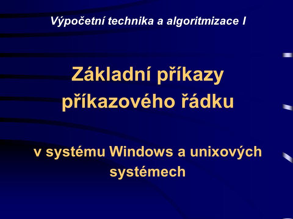 Výpočetní technika a algoritmizace I
