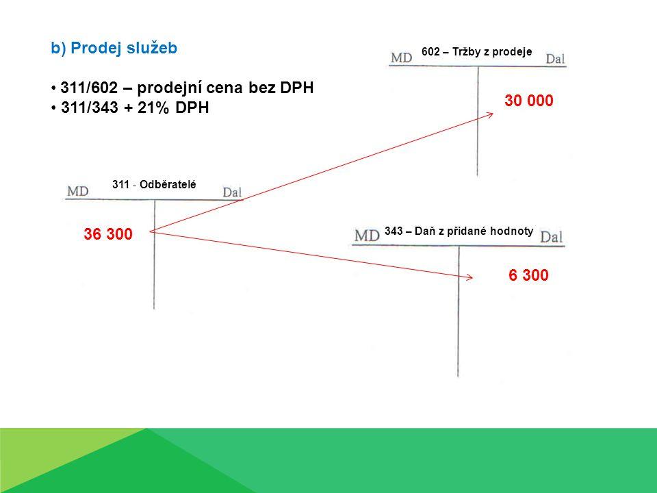 311/602 – prodejní cena bez DPH 311/343 + 21% DPH 30 000