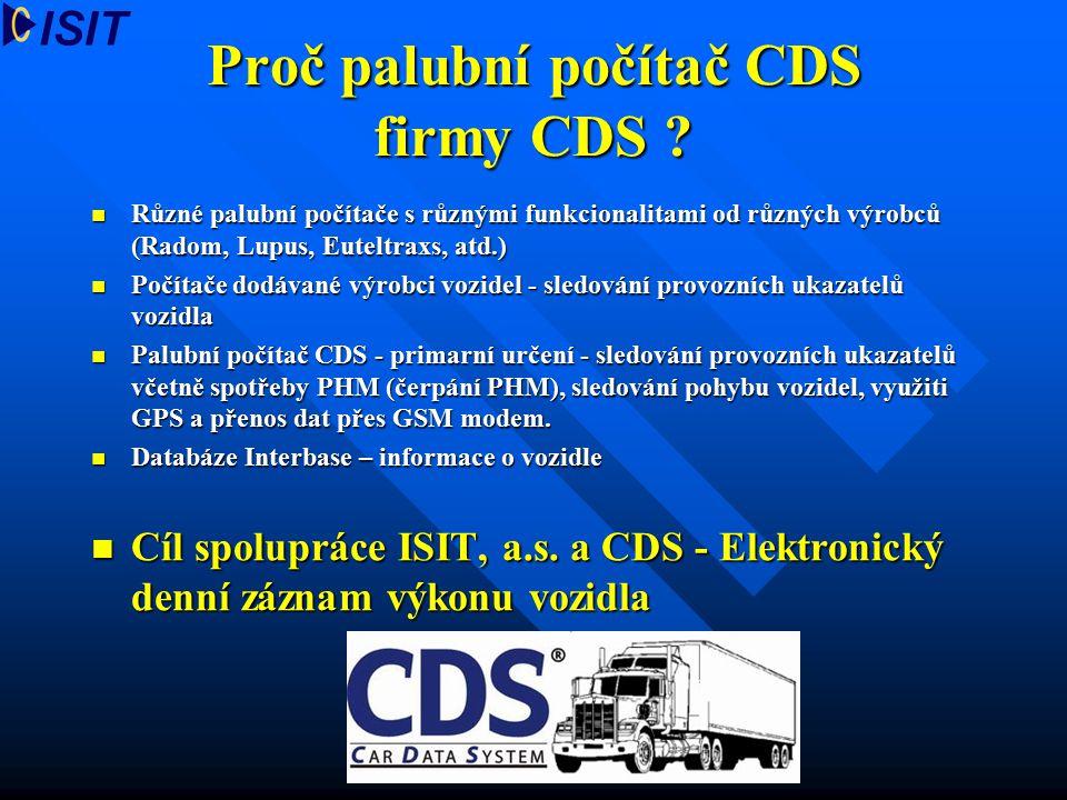 Proč palubní počítač CDS firmy CDS