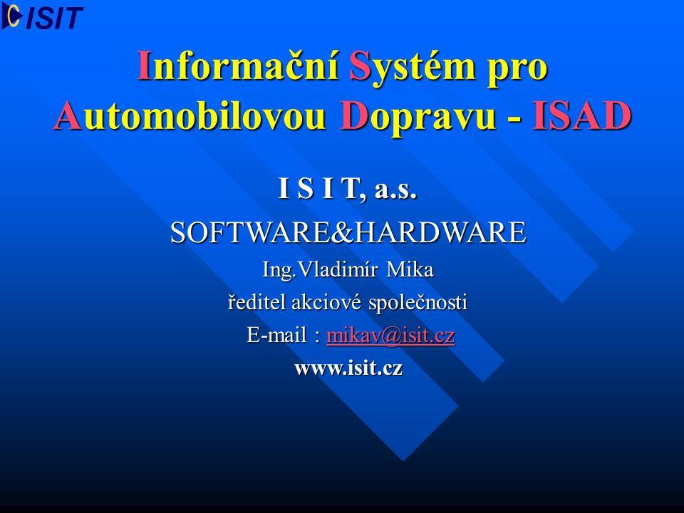 Informační Systém pro Automobilovou Dopravu - ISAD