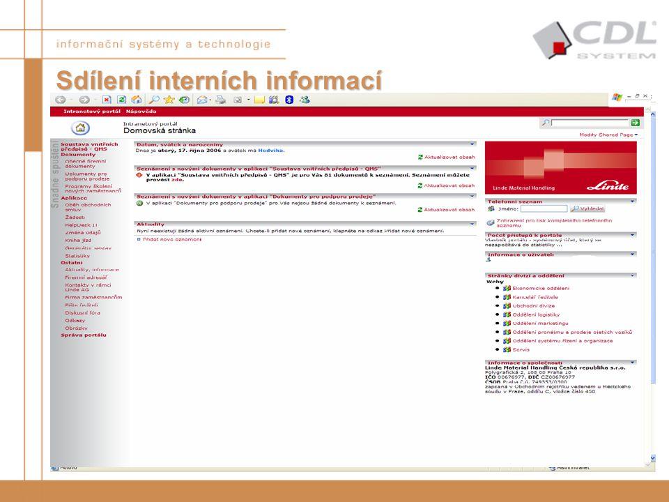 Sdílení interních informací