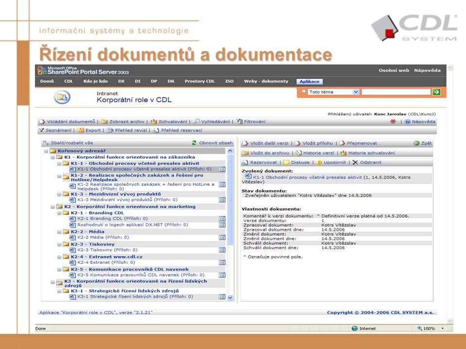 Řízení dokumentů a dokumentace