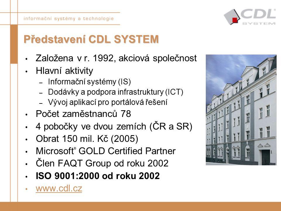 Představení CDL SYSTEM