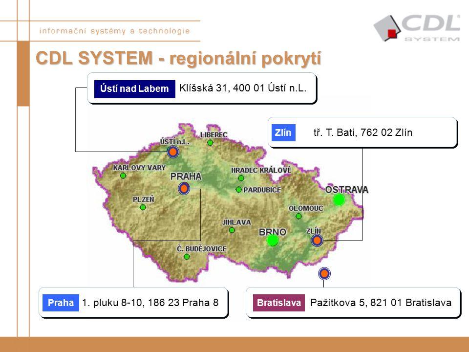 CDL SYSTEM - regionální pokrytí