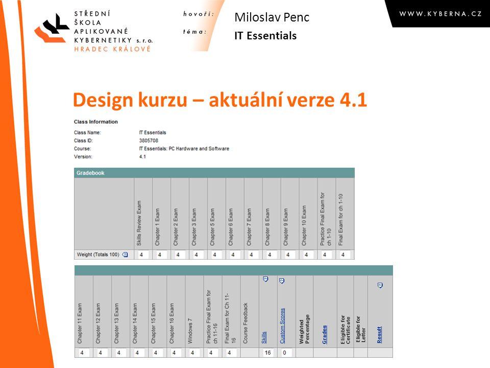 Design kurzu – aktuální verze 4.1
