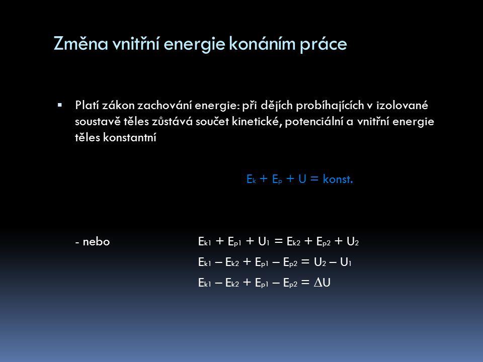 Změna vnitřní energie konáním práce