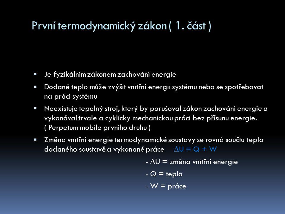 První termodynamický zákon ( 1. část )
