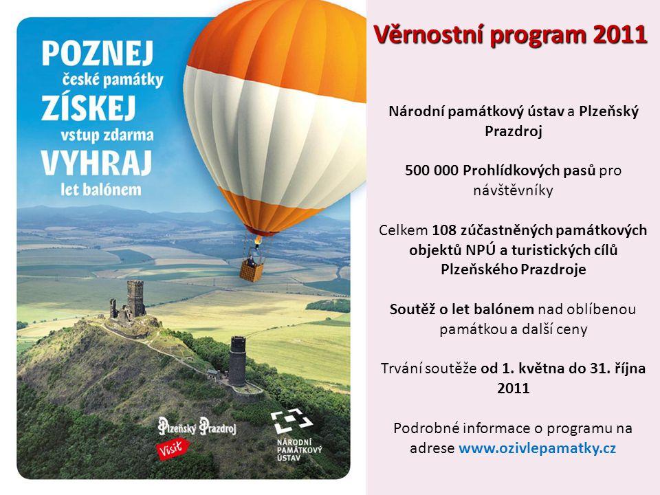 Věrnostní program 2011 Národní památkový ústav a Plzeňský Prazdroj