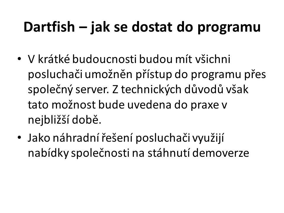 Dartfish – jak se dostat do programu