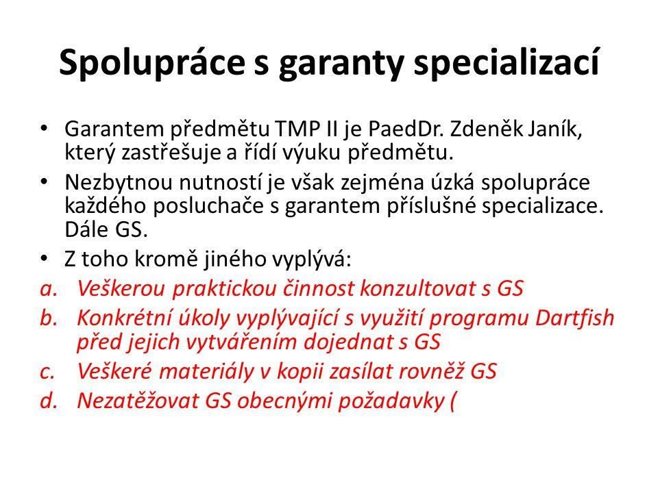 Spolupráce s garanty specializací