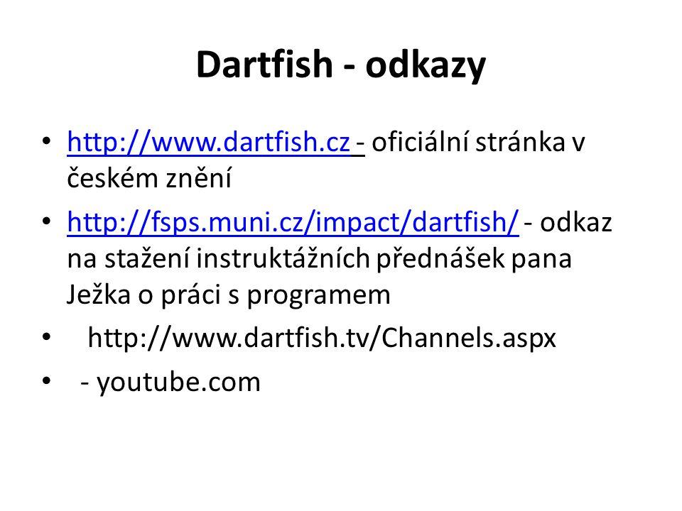 Dartfish - odkazy http://www.dartfish.cz - oficiální stránka v českém znění.