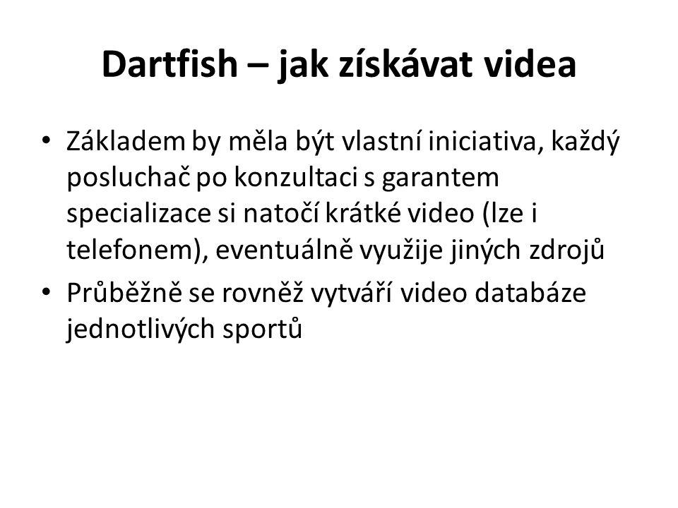 Dartfish – jak získávat videa