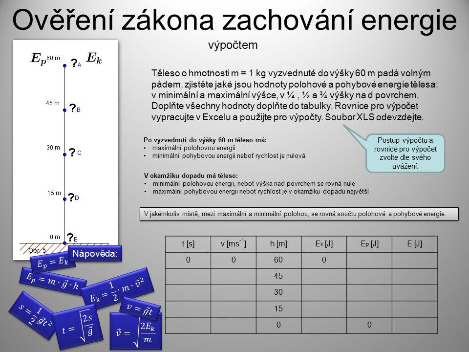 Ověření zákona zachování energie
