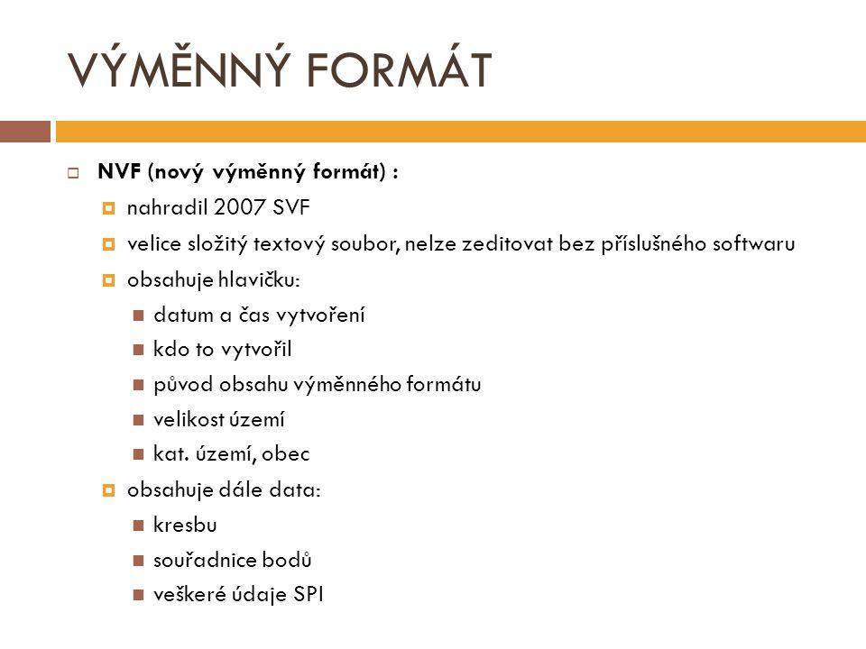 VÝMĚNNÝ FORMÁT NVF (nový výměnný formát) : nahradil 2007 SVF