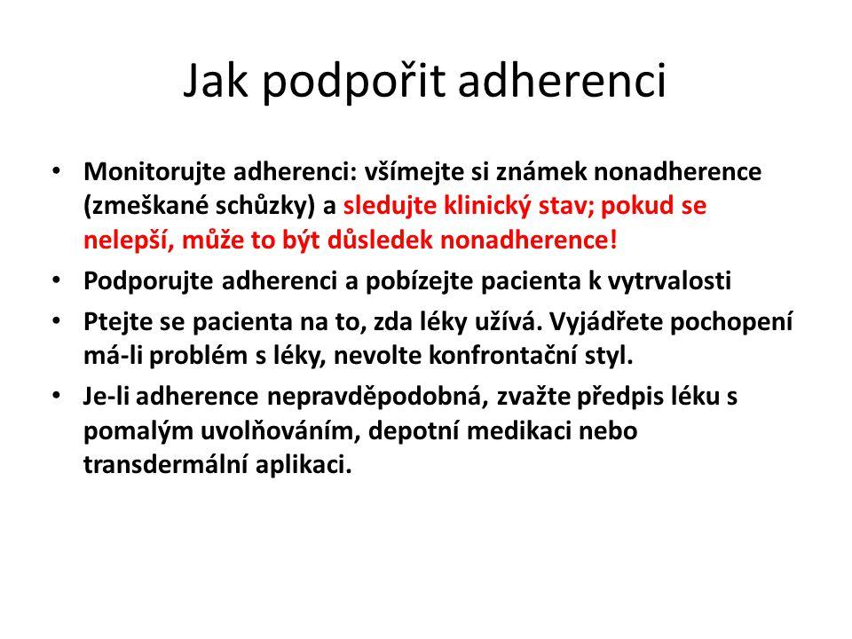 Jak podpořit adherenci