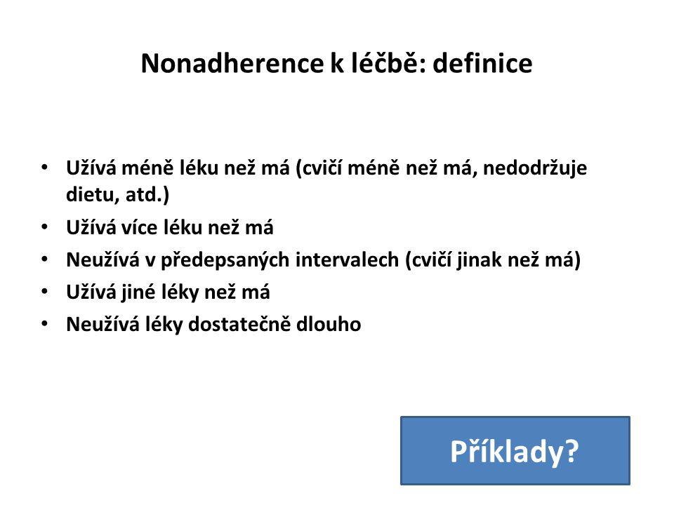 Nonadherence k léčbě: definice