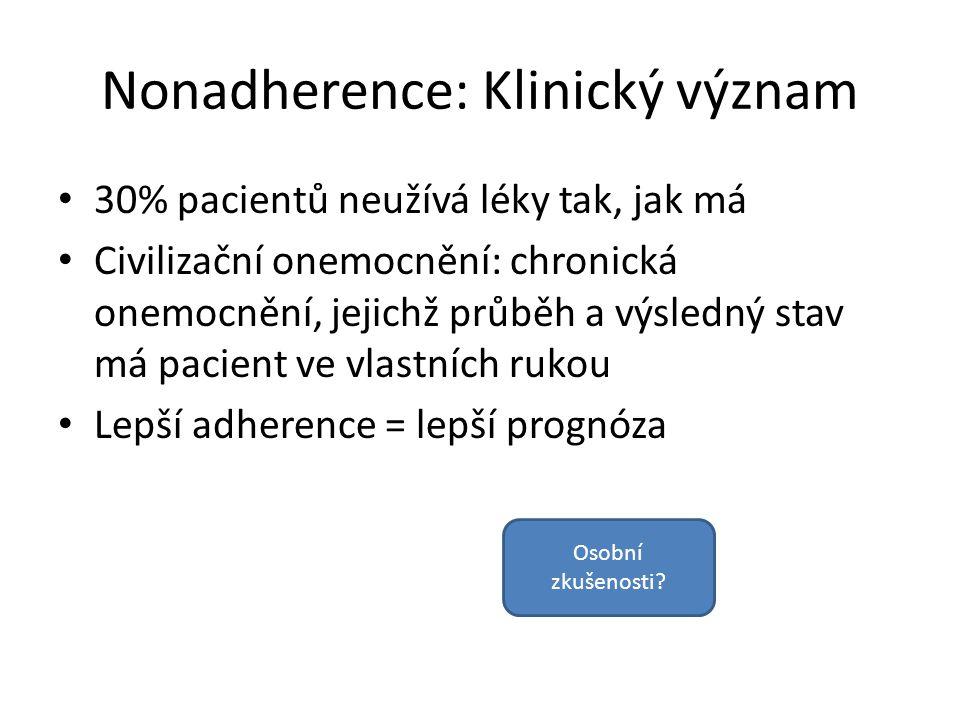 Nonadherence: Klinický význam