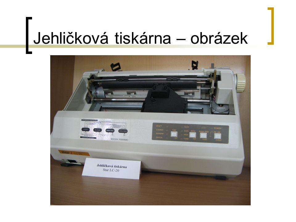 Jehličková tiskárna – obrázek
