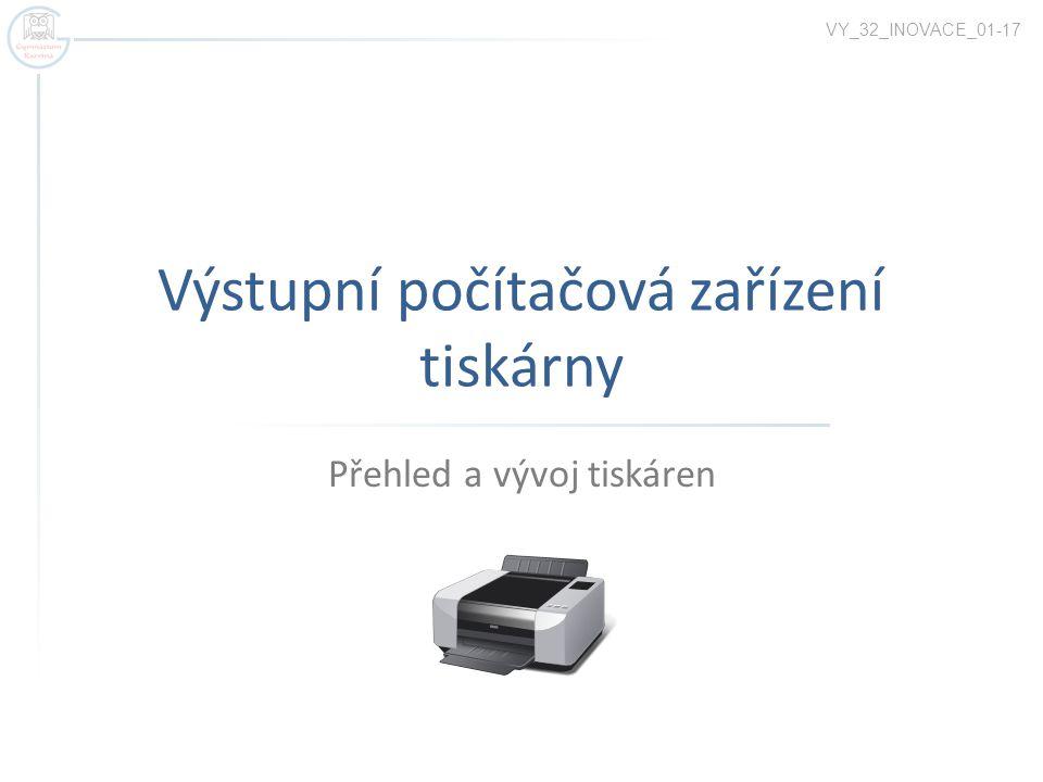 Výstupní počítačová zařízení tiskárny