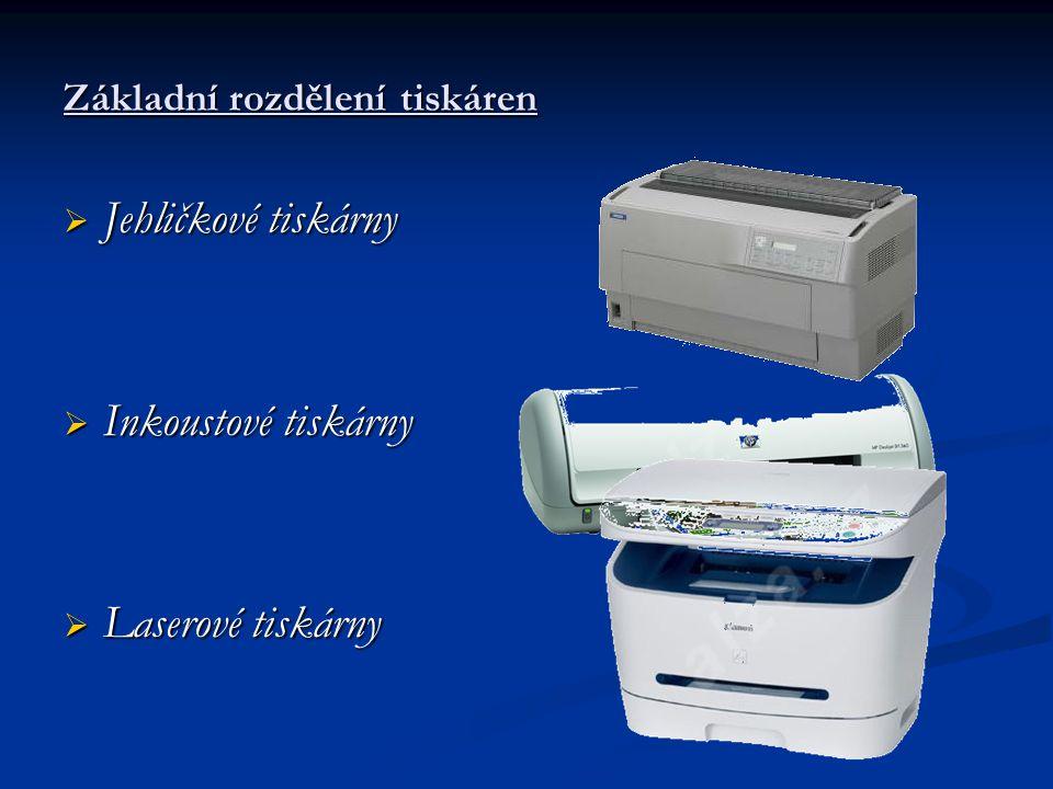 Základní rozdělení tiskáren