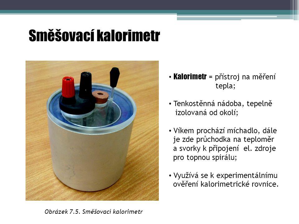 Obrázek 7.5. Směšovací kalorimetr