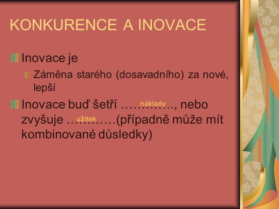 KONKURENCE A INOVACE Inovace je