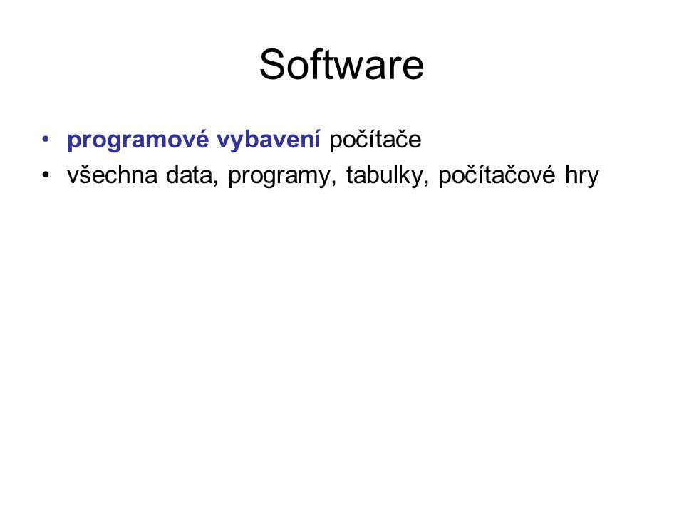 Software programové vybavení počítače