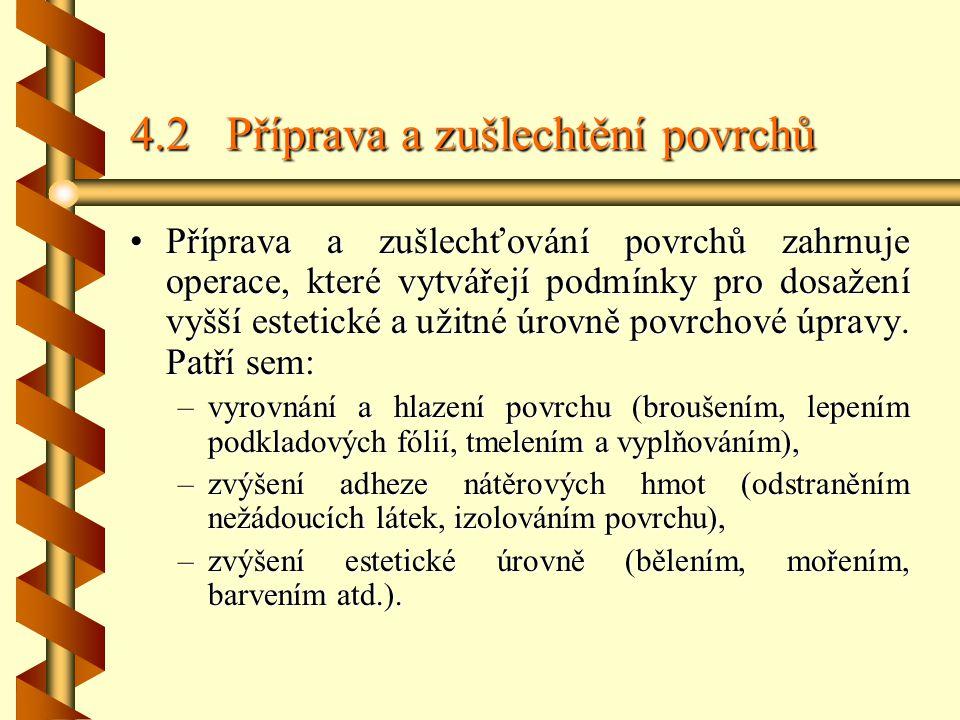 4.2 Příprava a zušlechtění povrchů