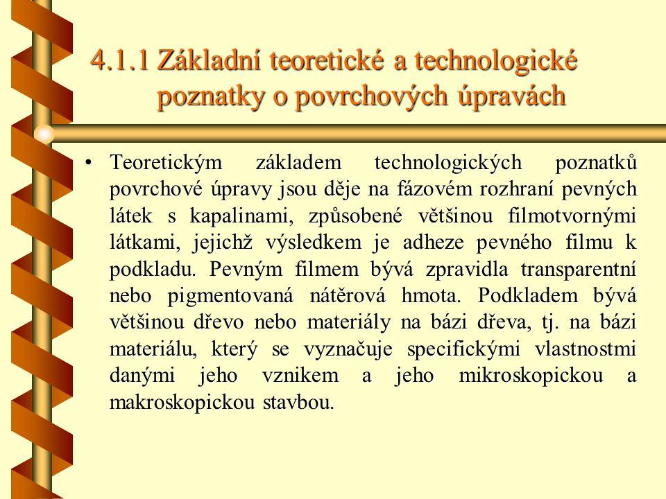 4. 1. 1. Základní teoretické a technologické