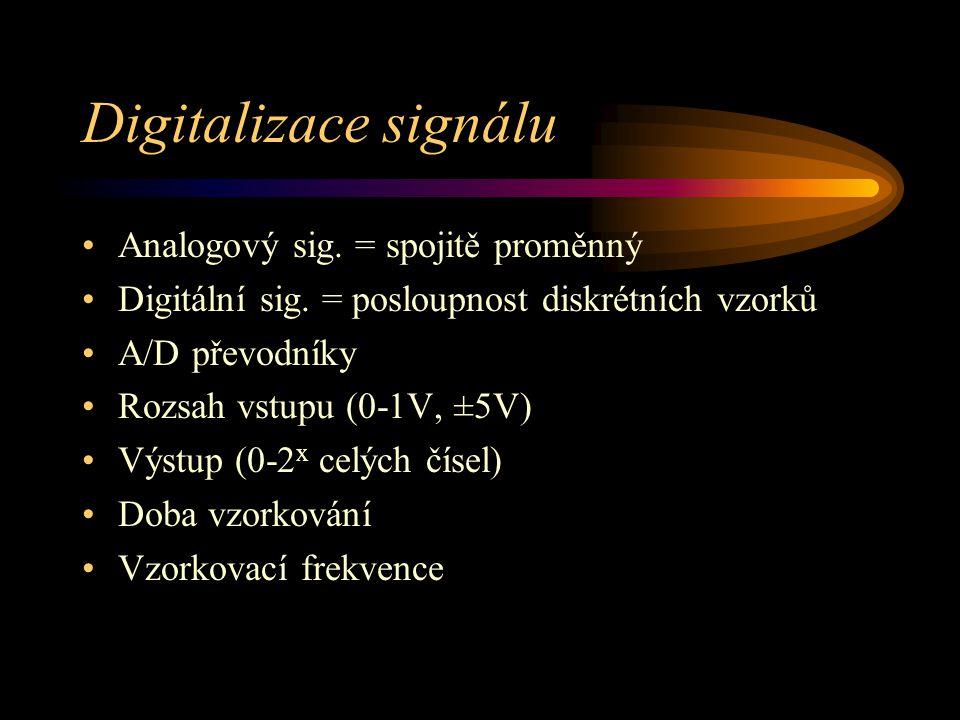 Digitalizace signálu Analogový sig. = spojitě proměnný