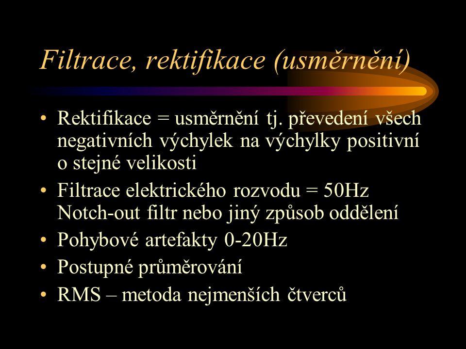 Filtrace, rektifikace (usměrnění)