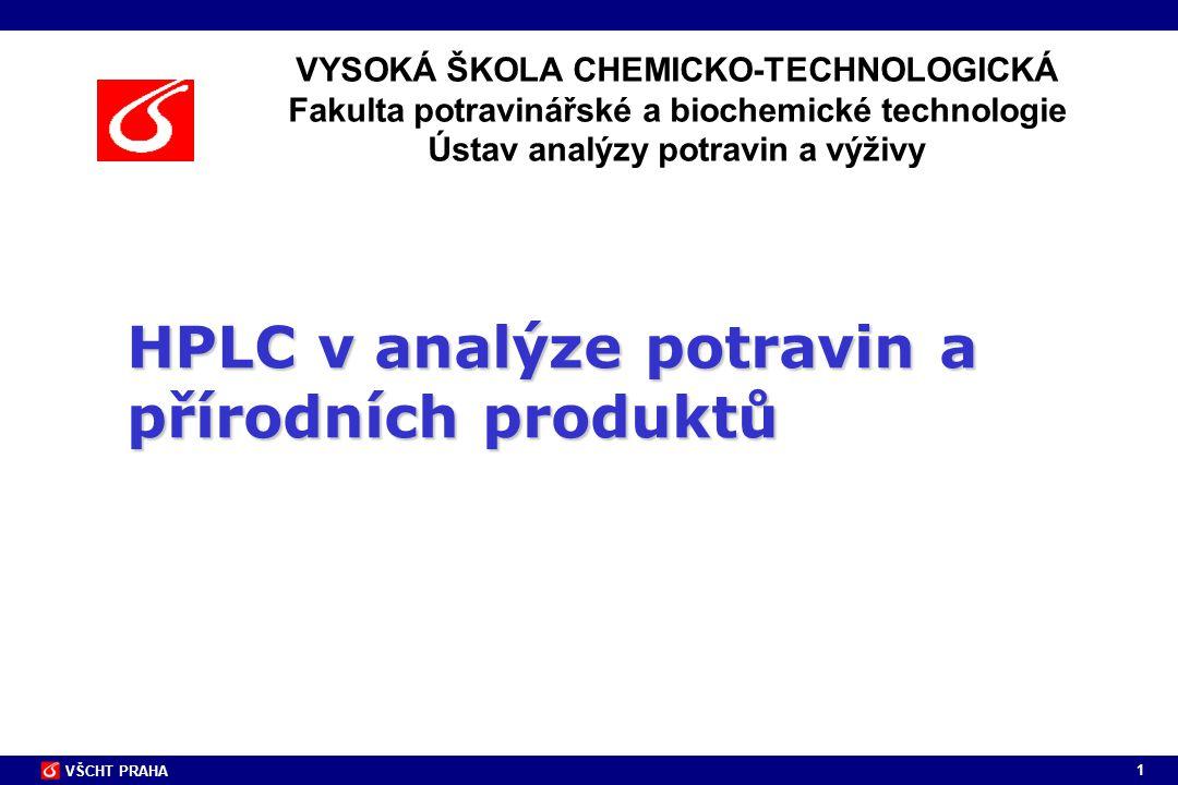 HPLC v analýze potravin a přírodních produktů